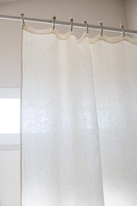 Organic Hemp Shower Curtain Full Size (73.5u0026quot;x72u0026quot;)   Ivory
