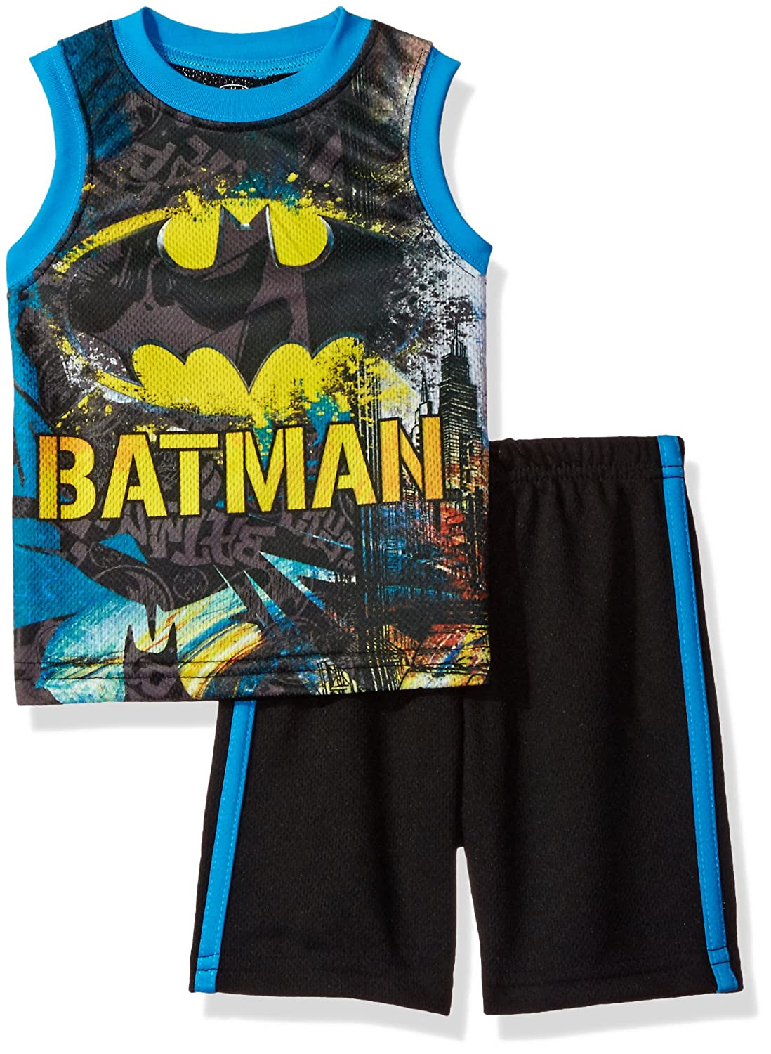 Warner Brothers Boys' Toddler Batman Tank and Short Set Black 3T Bentex Children's Apparel 27E1457BTX