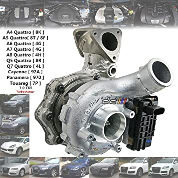 Turbocompresor Turbo para Audi A4 A5 A6 A7 A8 Q7 3.0 Diesel GTB2260VZK 059145874T: Amazon.es: Coche y moto