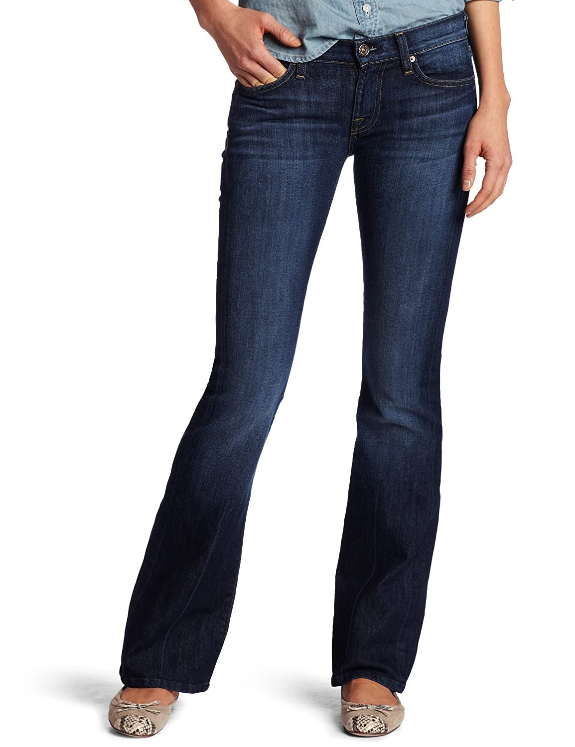 Outlet Professional 7 For All Mankind Woman Roll Up Straight High-rise Slim-leg Jeans Dark Denim Size 25 7 For All Mankind Websites Sale Online Clearance Classic Cheapest Price Online Buy Cheap Factory Outlet K3XYamr