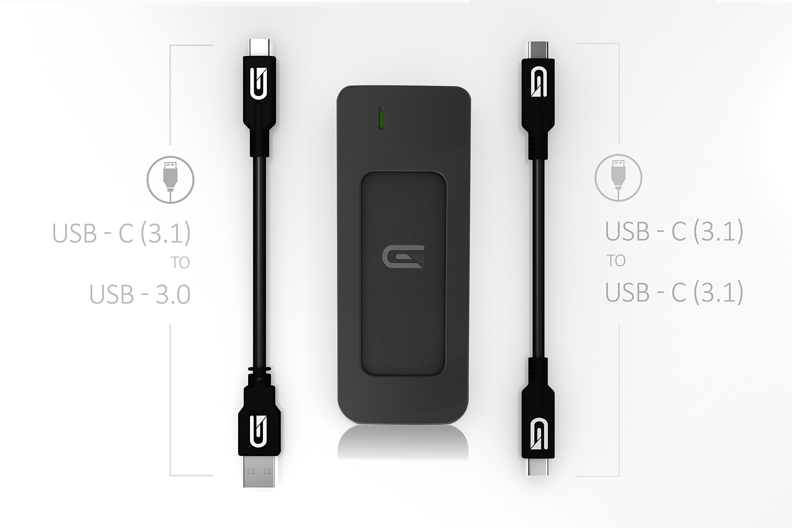 Glyph 525 GB Atom USB 3.1 Type-C External Solid State Drive - Black by Glyph Production Technologies (Image #6)