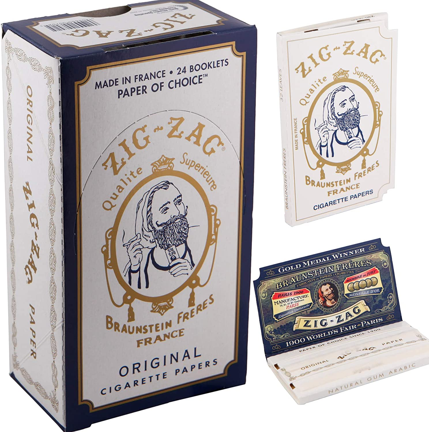 3 Full Boxes Zig Zag White Single Wide Rolling 32 Leaves Papers Each Pack