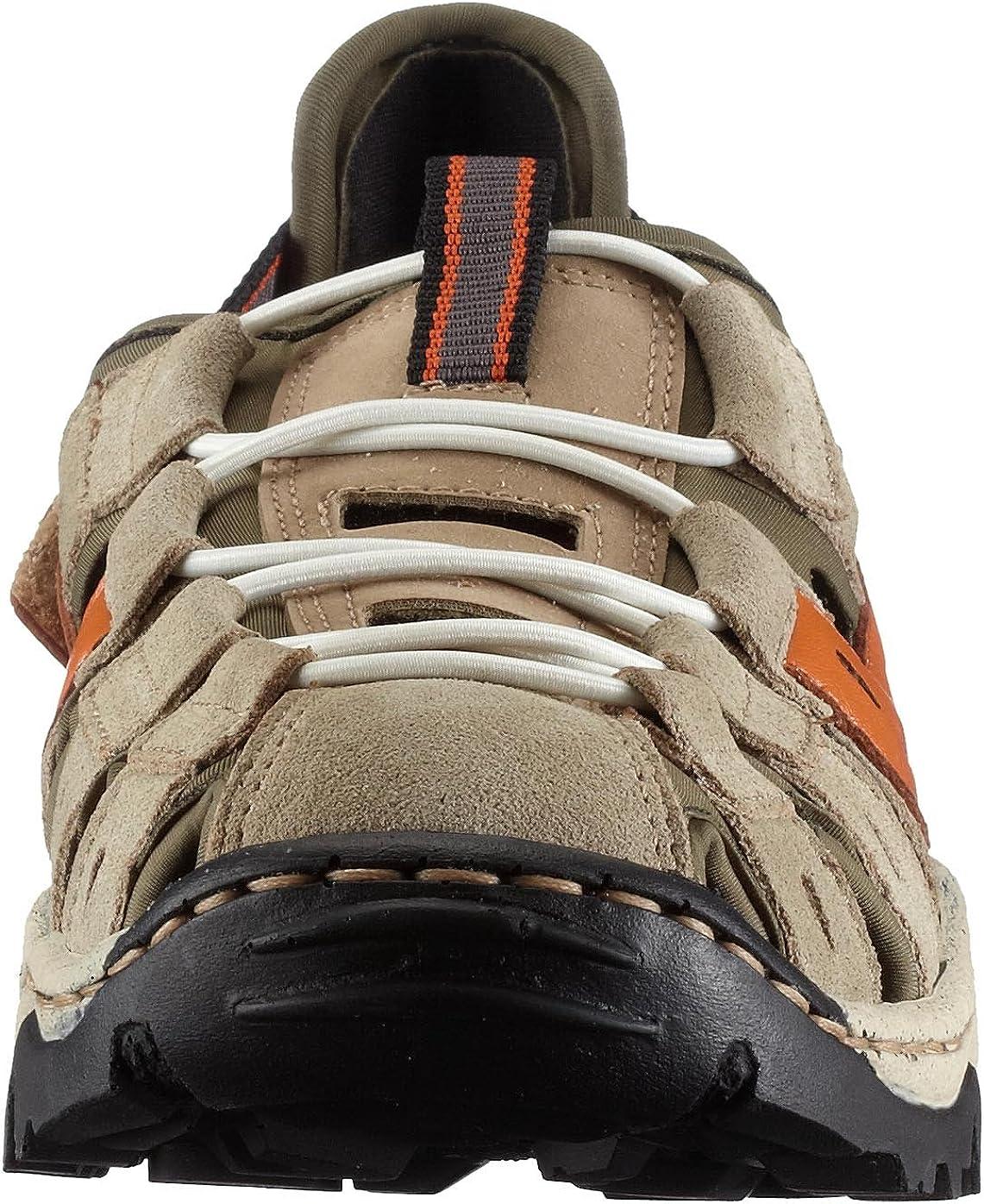 Rieker Leandra L0276 41, Damen Sneaker, beige kombi, (nebbia