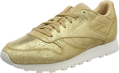 carril Analgésico otro  Reebok Classic Leather Shimmer, Zapatillas Mujer: Amazon.es: Zapatos y  complementos