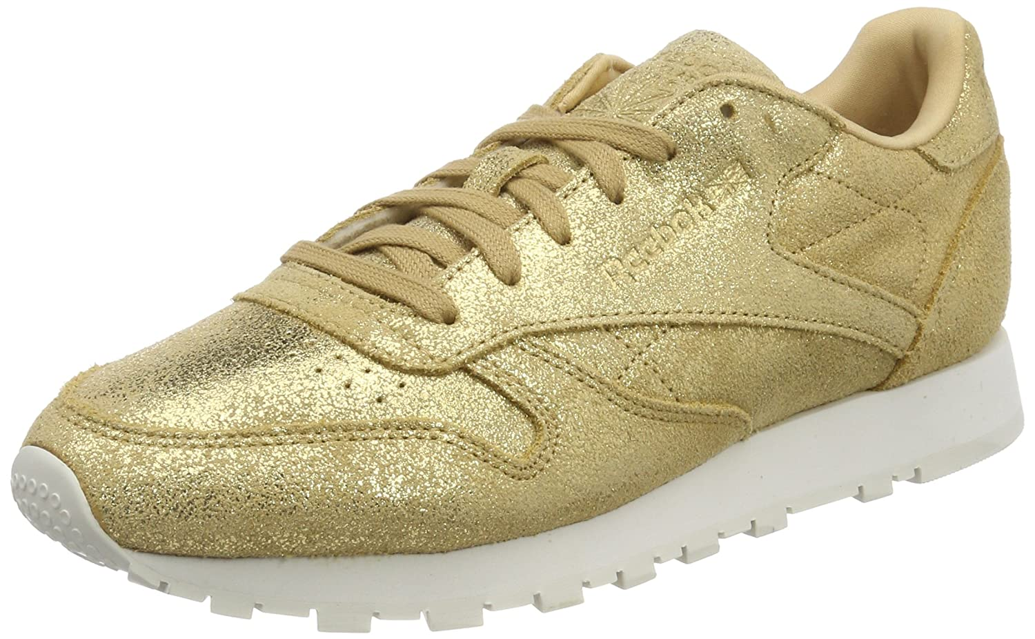Reebok Classic Leather Shimmer, Zapatillas Para Mujer 39 EU|Amarillo (Gold/Chalk Cn0574)