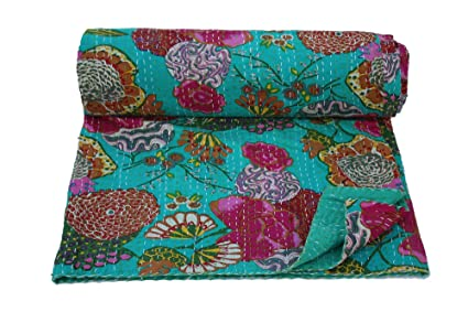 Amazon Com Bhawana Handicrafts Handmade Pure Cotton Kantha