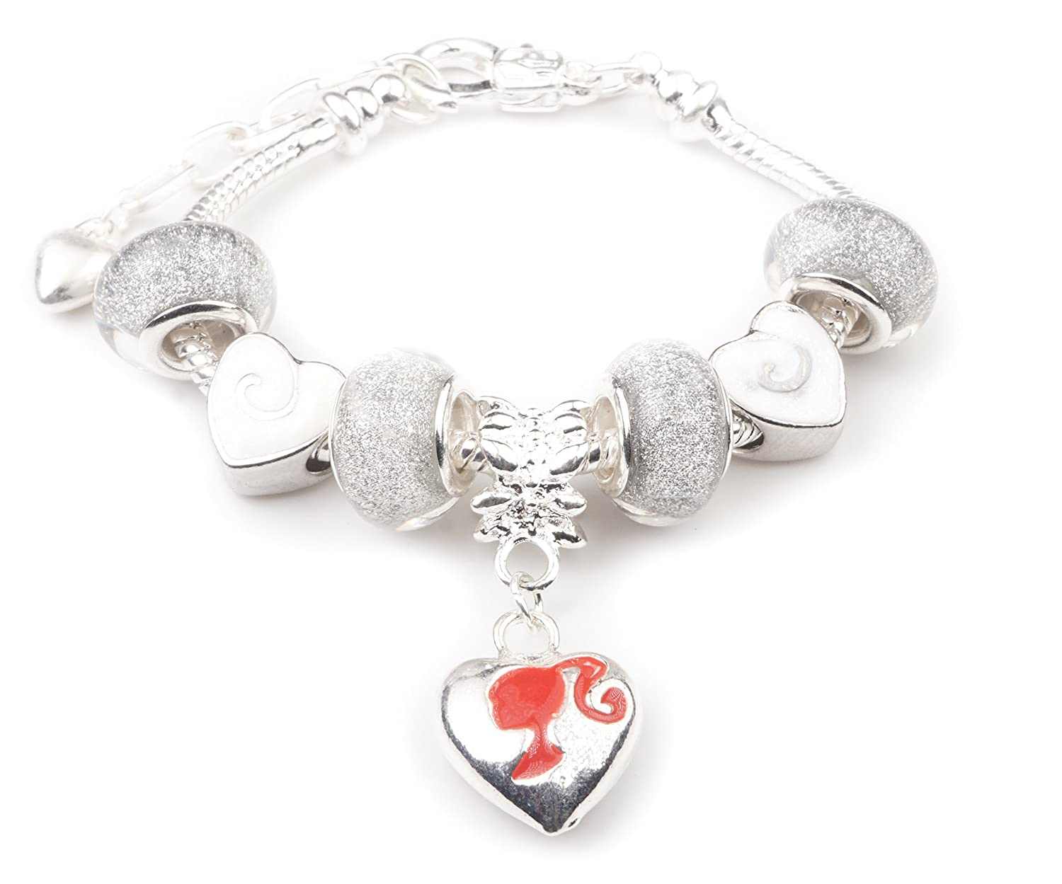 'Little Miss Dolly' Children's Charm Bracelet with Gift Box Girls Jewellery Jewellery Hut BRBARBIE
