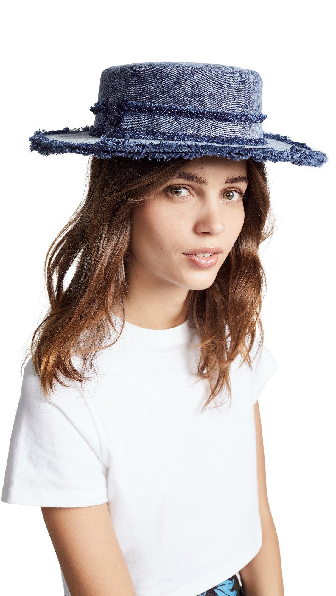 Eugenia Kim Women's Brigitte Hat, Denim, One Size