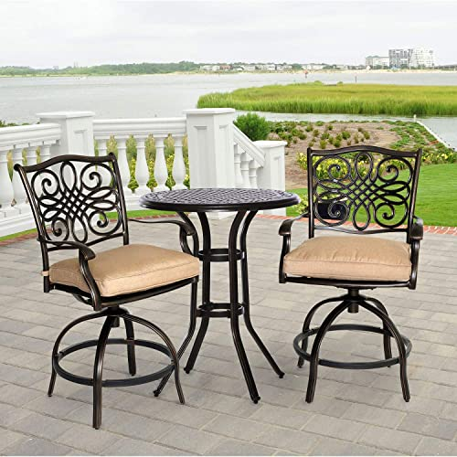 Hanover TRADDN3PCSW-BR Bistro Set