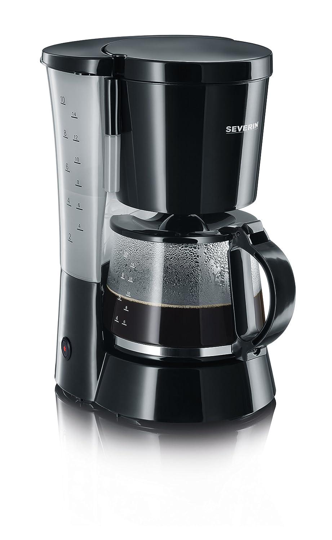SEVERIN KA 4479 Cafetera para filtros de Café Molido, 10 tazas incluye jarra de cristal, negro: Amazon.es: Hogar