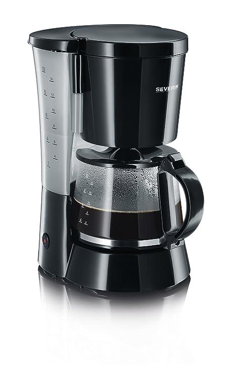 SEVERIN KA 4479 Cafetera para filtros de Café Molido, 10 tazas incluye jarra de cristal, negro