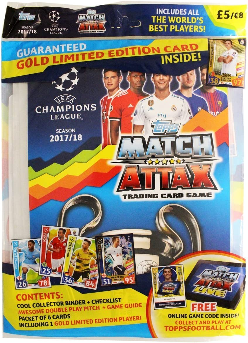 Topps – Cl177 – Kit de iniciación – UEFA Champions League 2017/18 ...