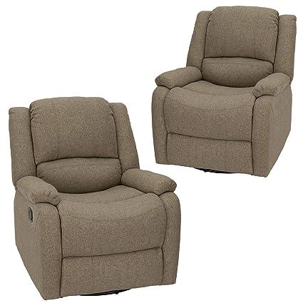 RecPro Juego de 2 sillones reclinables reclinables ...