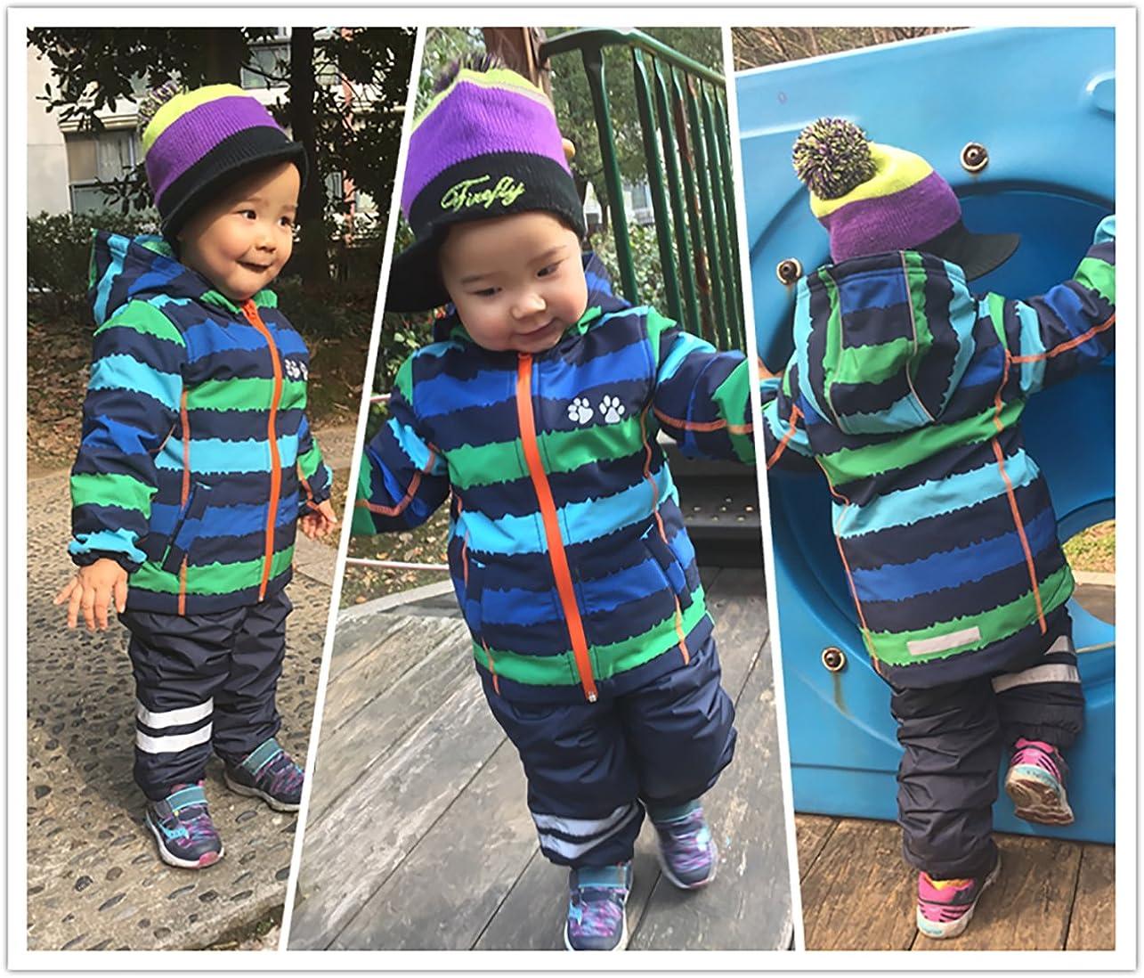 umkaumka Giacca a Vento Felpata Impermeabile da Bambino con Cappuccio Disponibile in Varie Taglie per Bimbi da 1 a 7 Anni