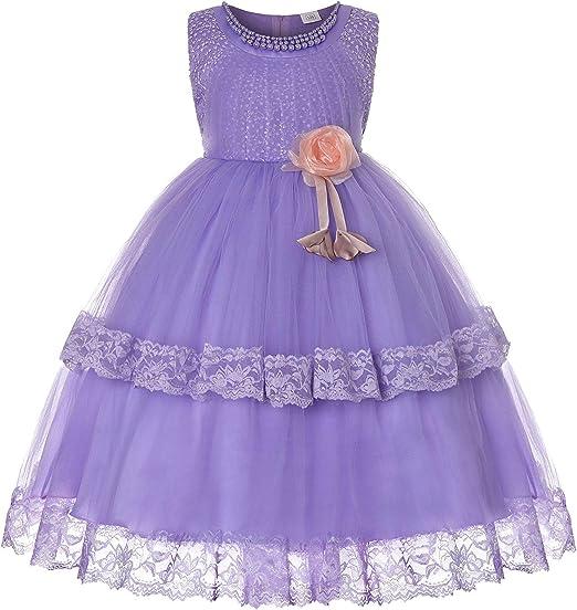 WJX Vestido de niña, sin Mangas de Piano Traje Falda Desfile ...