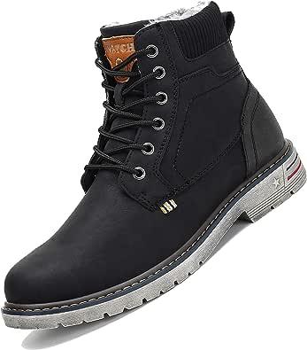 Botas de Nieve Hombre Antideslizante Invierno Botines Calientes Trekking Aire Libre Muje Zapatos