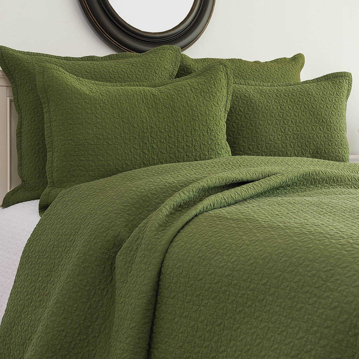 C&F Home Manchester Quilt Set, Full/Queen, Fern, 3 Piece by C&F Home