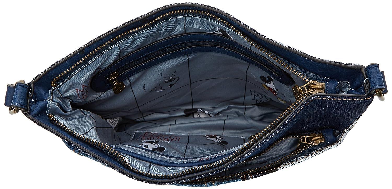 Desigual Bols_exotic Mickey Baqueira, Womens Cross-Body Bag, Blue (Denim Dark Blue), 2x23x30.5 cm (B x H T): Handbags: Amazon.com