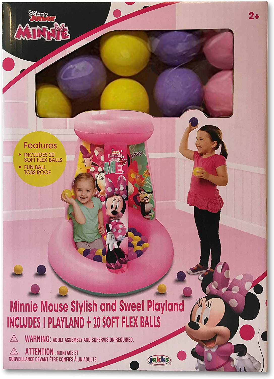 Colored Minnie Inflatable Bean Bag Toss For Indoor Outdoor Game