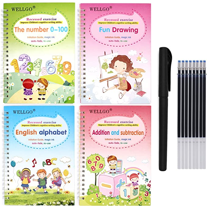 Calligraphy Copybook Magic Practice Copy Book for Toddlers Ages 3 Magic Reusable