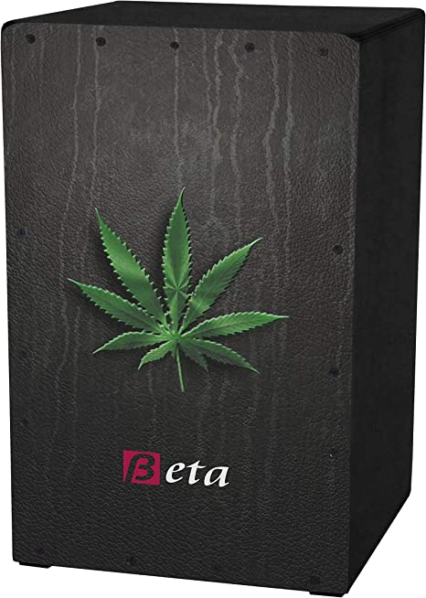 Cajón flamenco Beta mod. marihuana negro | Caja musical rumbera de percusión en abedul. Tamaño: adulto: Amazon.es: Instrumentos musicales