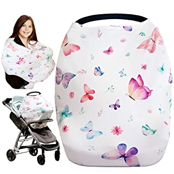 Gift for Mum Nursing Cover,Breastfeeding Cover Car Seat Covers for Babies Shopping Cart Cover Nursing Tops Carseat Canopy for Baby Infant Maternity Top