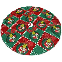 Funny Merry Christmas Tree Skirt, Good to Touch Xmas Tree Ornament, Xmas Tree Base Cover Mat for Party Decorations…