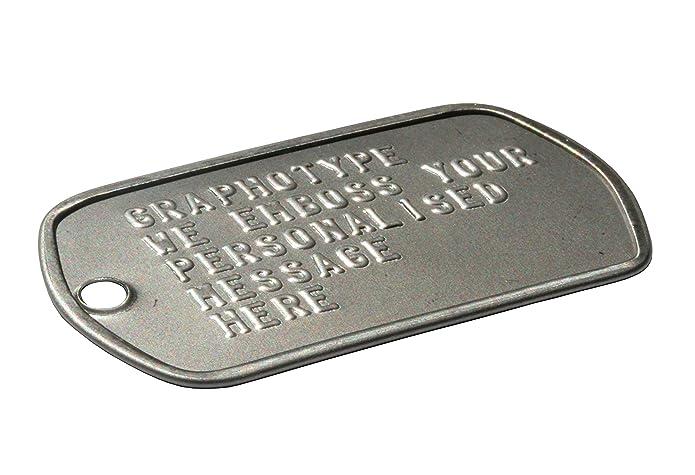 Militärischen Erkennungsmarken 2 Personalisierten Erkennungsmarken Im Armeestil Mit Kugelkette Schalldämpfern