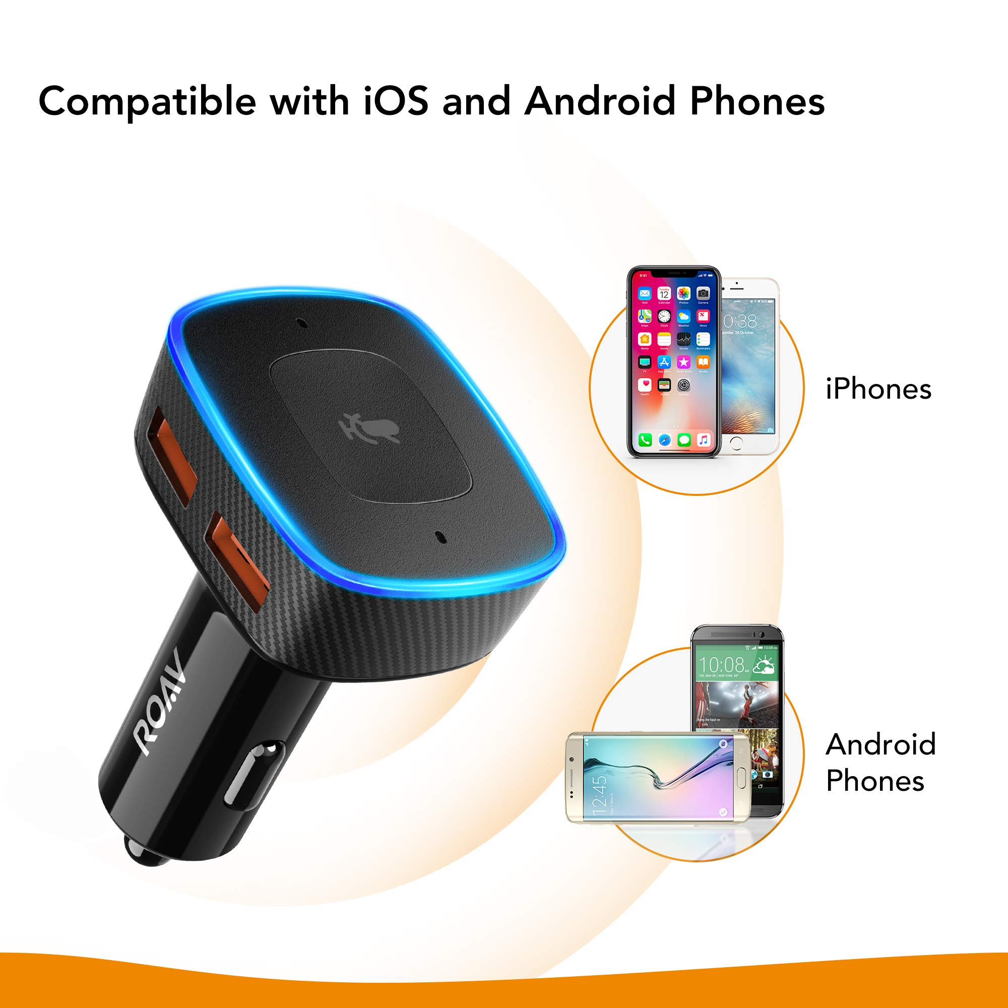 Roav VIVA by Anker, Alexa-Enabled 2-Port USB Car Charger in-Car Navigation, Voice Initiated Calling, and Music Streaming. Compatible with Android and iOS Smart Devices by ROAV (Image #7)