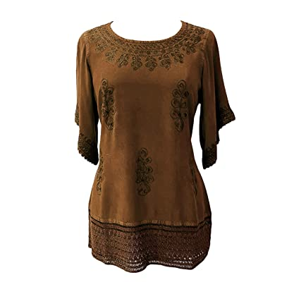 Agan Traders 143 B Medieval Rennaissance Peasant Gypsy Ari Lace Blouse Top at Amazon Women's Clothing store