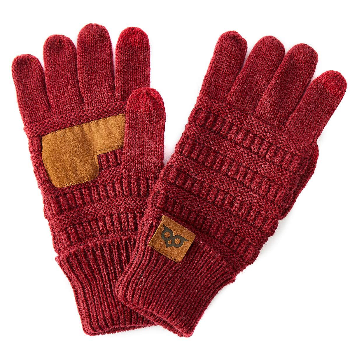 YOOWL Gloves Women Men Touchscreen Gloves Texting Warm Winter Knitted Full Finger Mittens Anti-Slip Unisex Gloves YOUS20