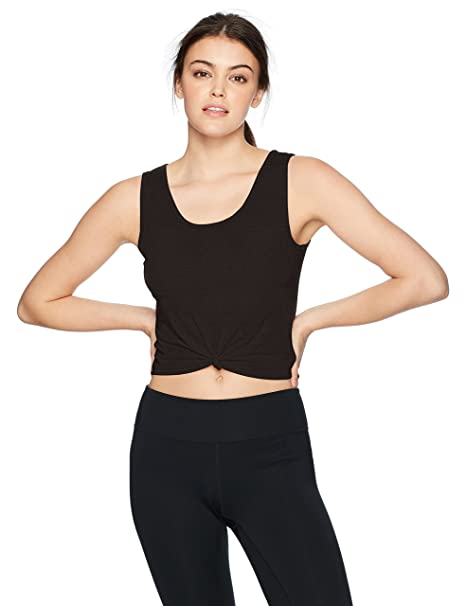 2d0fa20d8ad Onzie Women's Knot Crop Top, Black, One Size: Amazon.ca: Clothing ...