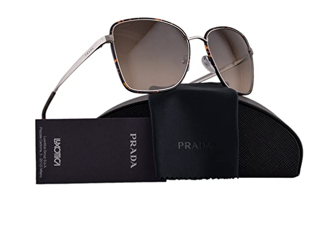 f0cee89d6f ... netherlands amazon prada pr52ss cinema sunglasses dark havana silver w  light brown gradient lens 2au3d0 spr
