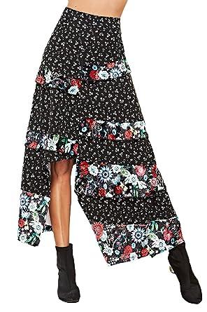 Falda Mujer Verano Elegantes Moda Falda Vintage Plisada Festivo ...