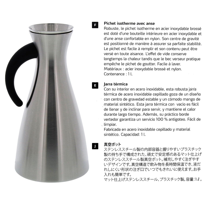 Amazon.com: Eva Solo Vacuum Jug - 1.0L Stainless Steel ...