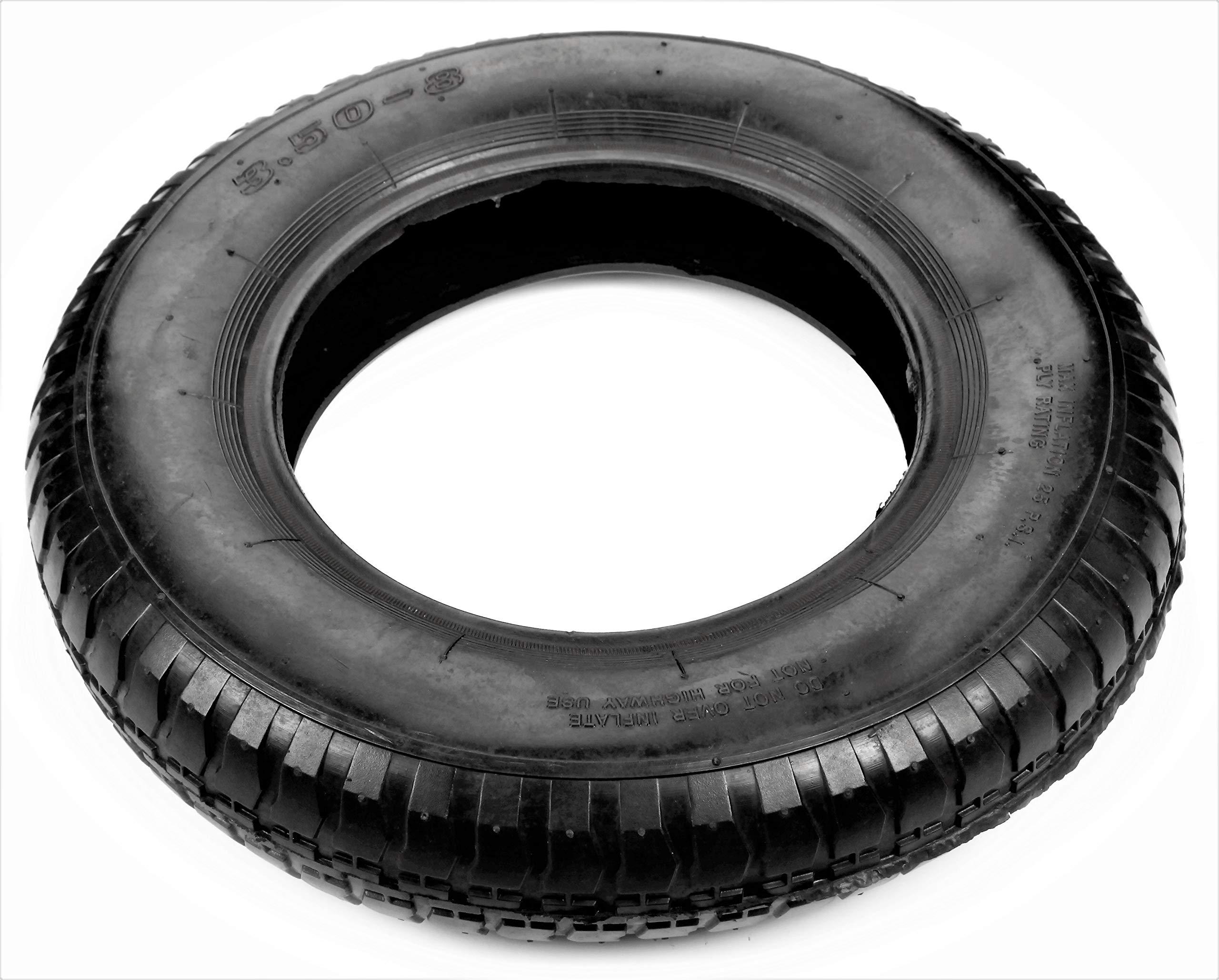 Potreba Tire 3.50-8 Pneumatic Air Filled Replacement for Wheelbarrow Wheels 15'' / Tire Replacement 8 Wheel