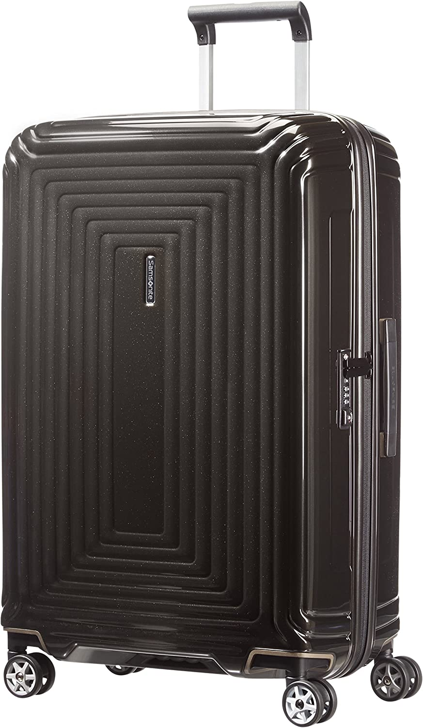 Samsonite Neopulse - Spinner M Maleta, 69 cm, 74 L, Negro (Metallic Black)