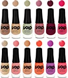 Volo Color Rich Toxic-free Perfect Shine Nail Polish (Set of 12)