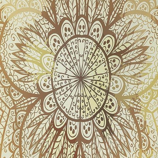 Finether-Tapiz Indio(Esterilla Bohemia, Rectangular, Para Yoga,Mantel de Mesa, Mantas, Decoración de Pared,) Amarillo