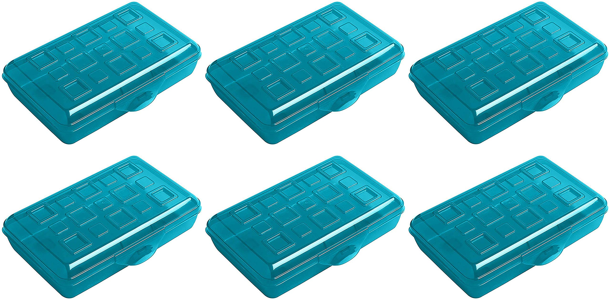 Sterilite Plastic Pencil Box - Green - Pack of 6 by STERILITE