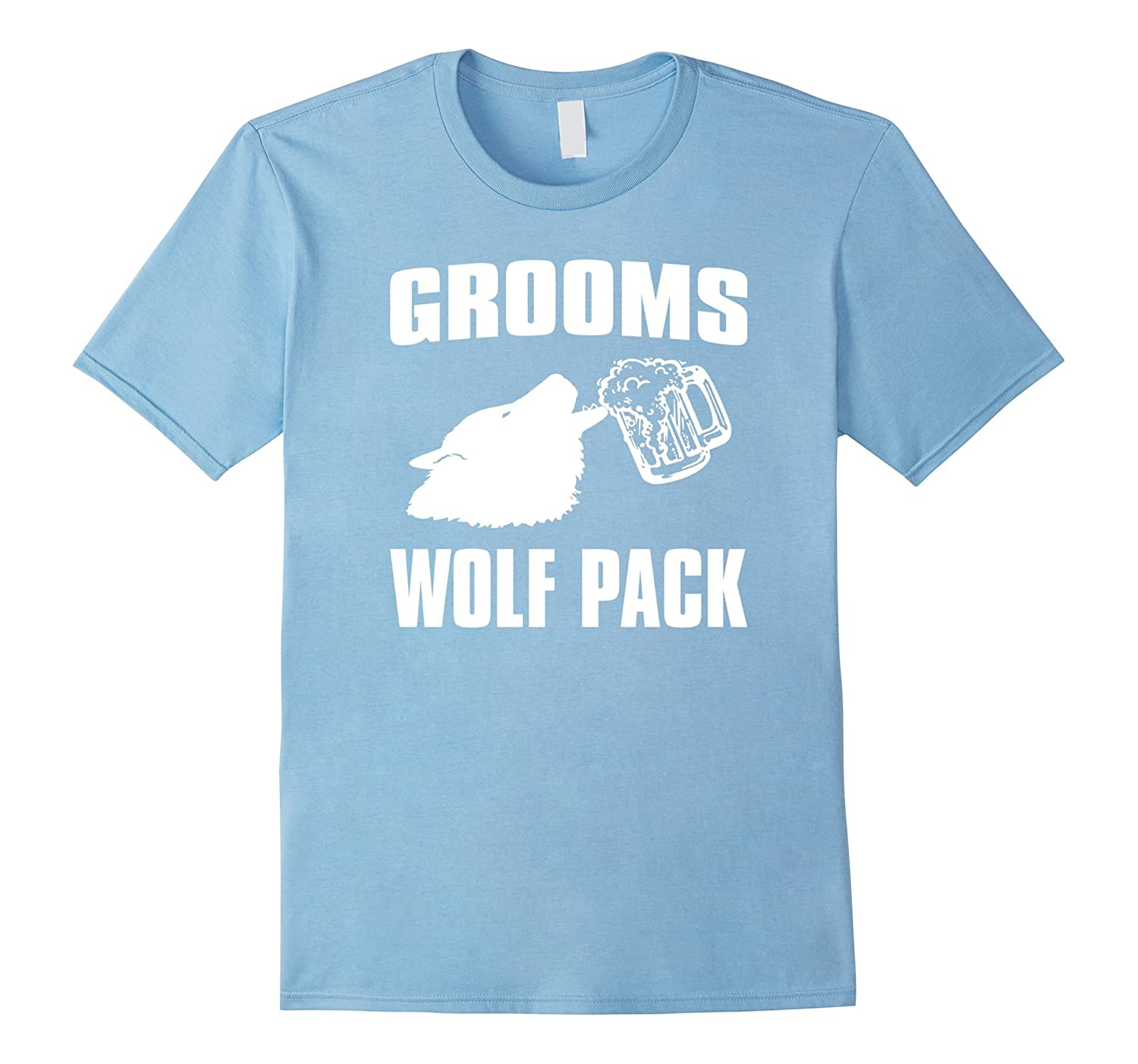 Funny bachelor party shirt grooms wolf pack goatstee for Amazon review wolf shirt