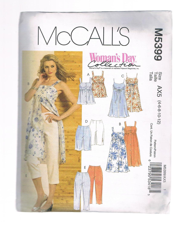 McCall \'s día Collection - Patrón de la mujer petite Top, túnicas ...