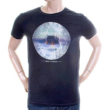 c5a838b4 Hugo Boss Orange Label mens navy Truffle 2 50233003 printed t shirt  BOSS2844: Amazon.co.uk: Clothing
