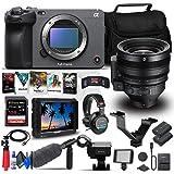 Sony FX3 Full-Frame Cinema Camera (Body Only) (ILME-FX3) + Sony FE C 16-35mm T3.1 G Lens + 4K Monitor + Pro Headphones + Pro