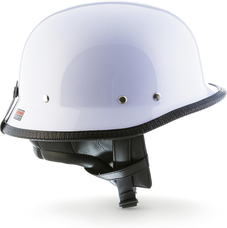 S 55-56cm Pelle Marrone Moto Helmets Casco jet Braincap Bobber
