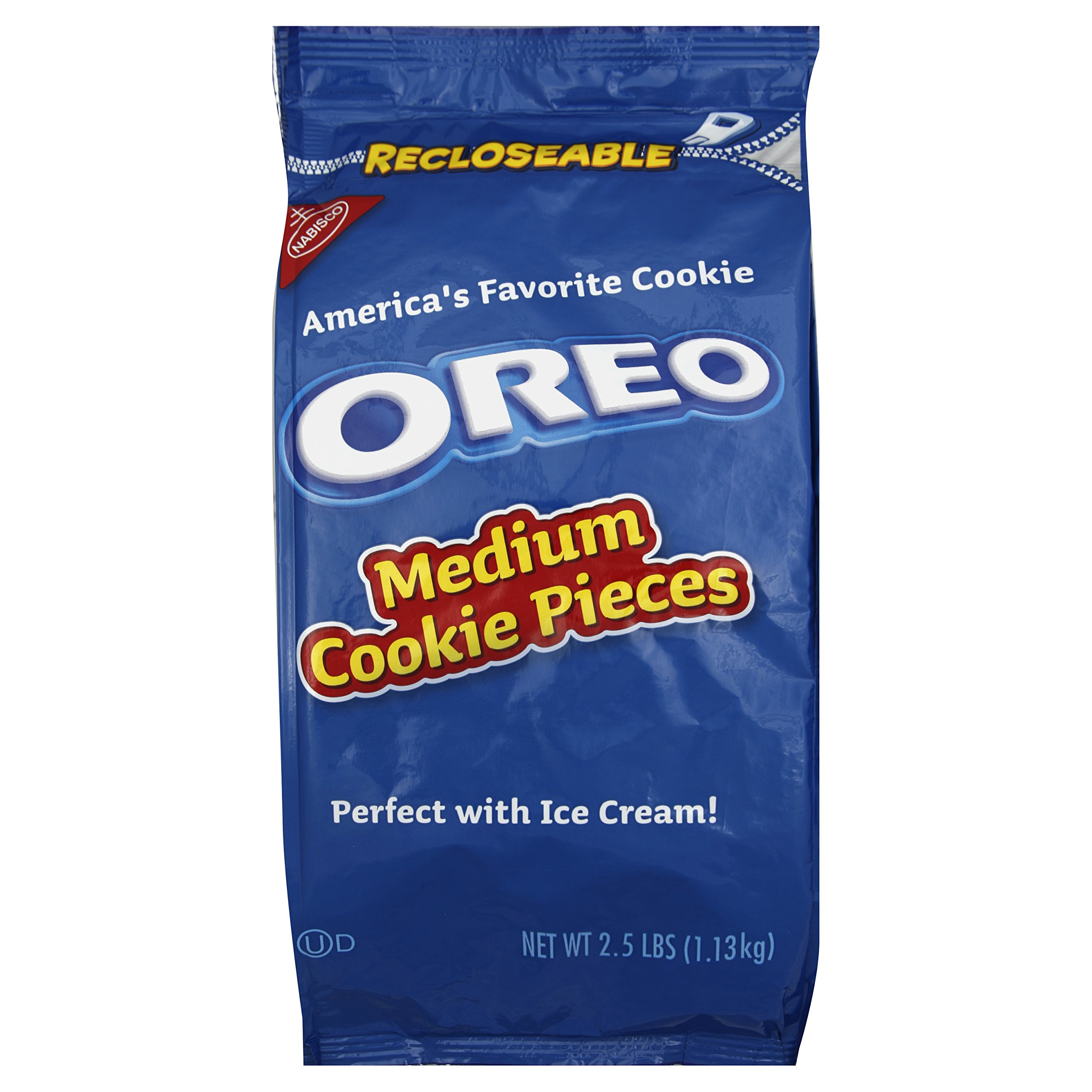 Oreo Medium Cookie Pieces, 2.5-Pound Resealable Packages (Pack of 4) by Oreo