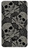 Amped Art 5000mAh Portable Charger Compact External Battery Power Pack Power Bank with Smart LED Display and Smart Charge for iPhone 7, 6, 6S, Plus, iPad, Samsung Galaxy, Tablets - Paisley Skulls