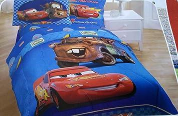 Disney Cars Comforter Twin Size Mater Lightning Mcqueen Includes 1 Pillow Sham