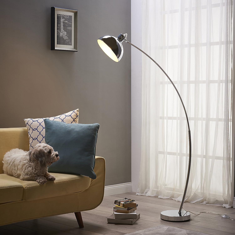 Versanora Curved Arco Led Standard Stehlampe Gold Modern Lighting
