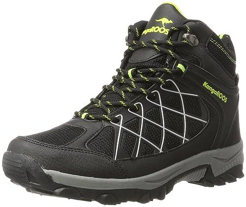 KangaROOS Loop Hi, Sneaker a Collo Alto Unisex-Adulto, Nero (Jet Black/Lime 5008), 44 EU
